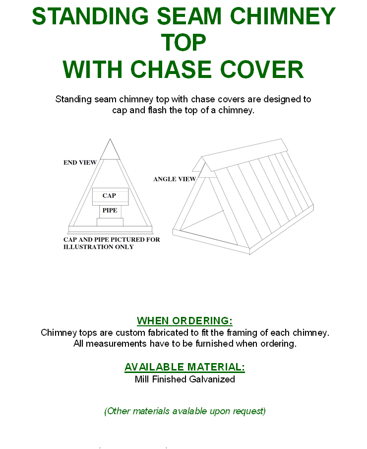 Standing Seam Chimney Top w/ Chase Cover