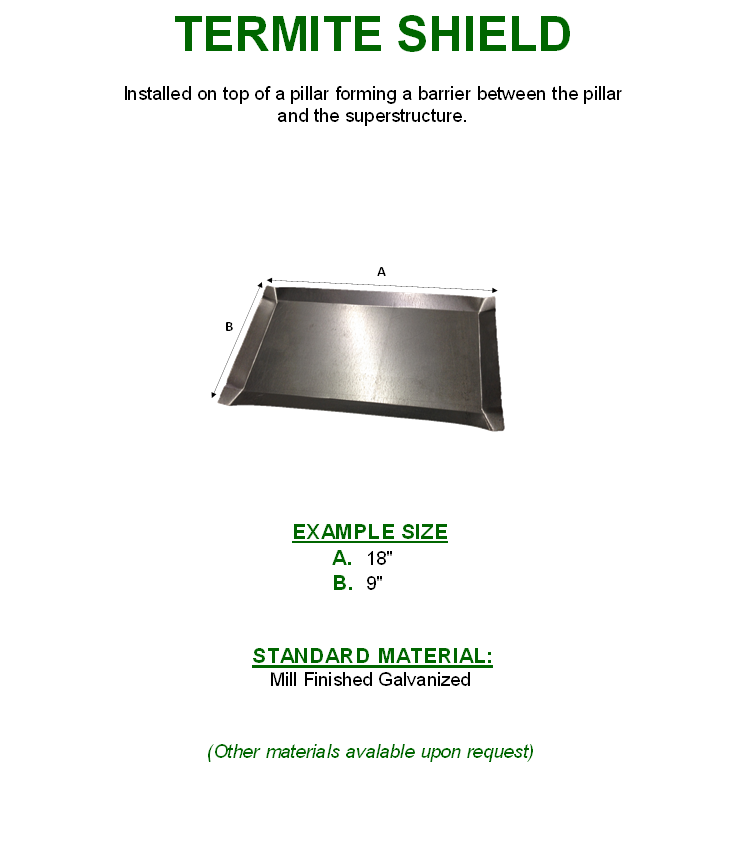 Termite Shield - Hinkley Metal Products Manufacturing Company